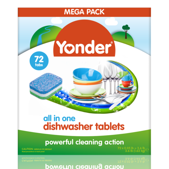 Yonder Dishwasher Tablets 72