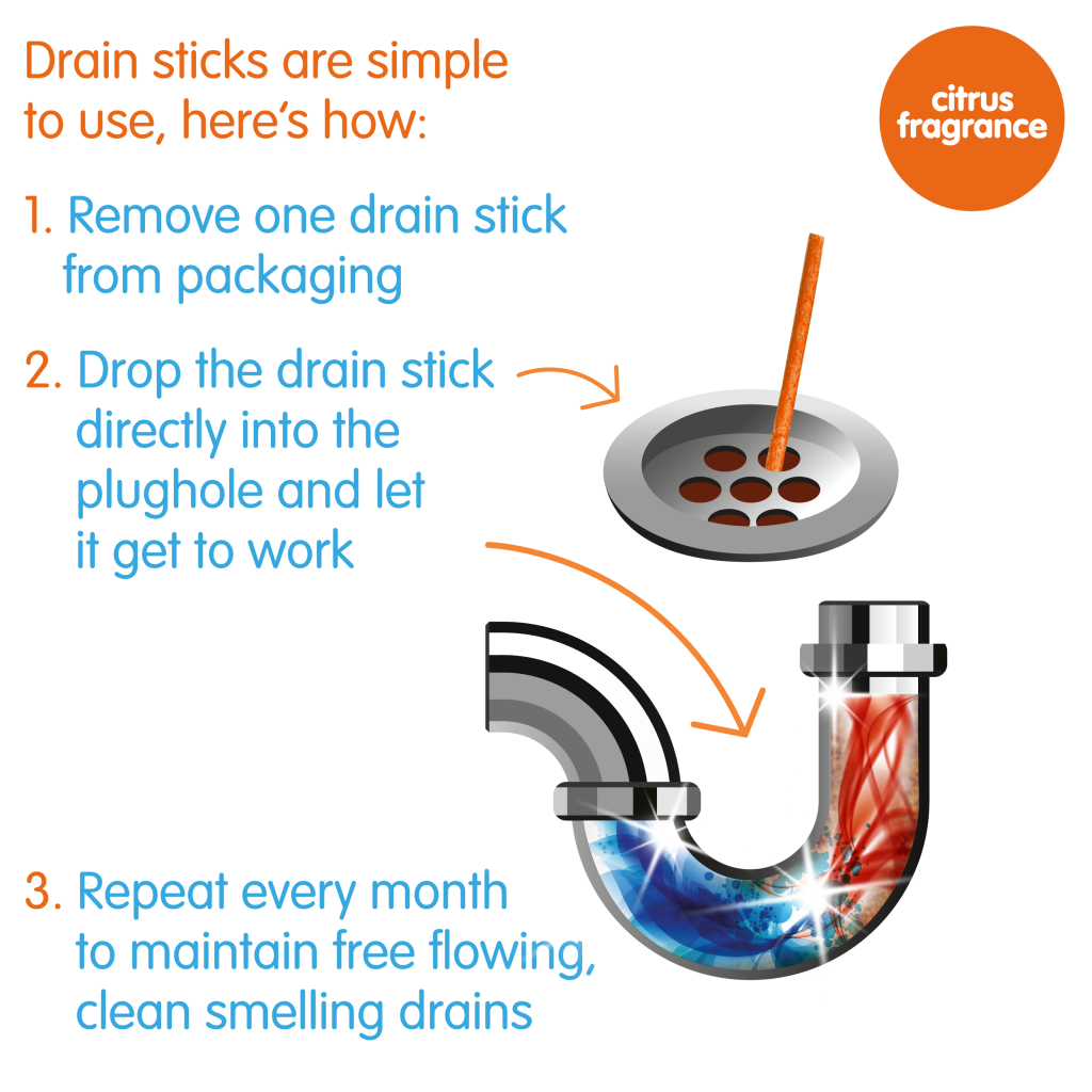 Yonder Drain Sticks How to use