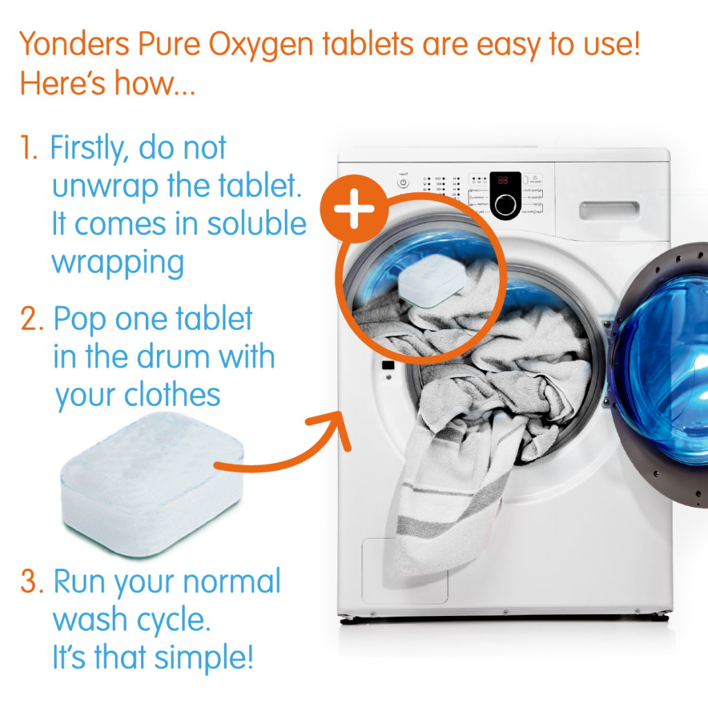 Yonder Laundry whitener how to use